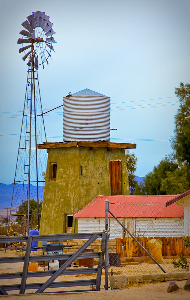 Desert mill HDR photograph